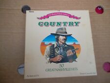 Ronco music Library rare Country 3 tape box set - 50 great Nashville hits