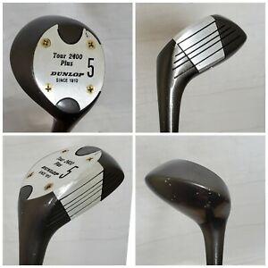 Dunlop Tour 2400 Plus 5 Wood Golf Club RH Steel Shaft R Flex Vintage Golf Club