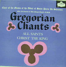 GREGORIAN CHANTS-ALL SAINTS CHRIST THE KING LP VINILO (ENGLAND) EXCELLENT COVER