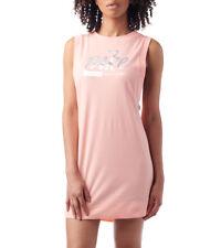 Nike Sportswear Women's Metallic Sleeveless Dress M Pink Orange Melon Casual New