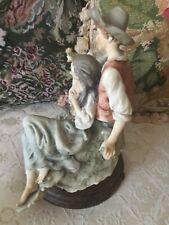 "Giuseppe Armani Figurine Retired ""Country Lovers"" Figurine Statue Couple"