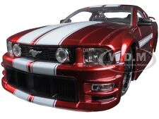 2006 FORD MUSTANG GT RED W/ WHITE STRIPES 1/24 DIECAST MODEL BY JADA 90658 YV