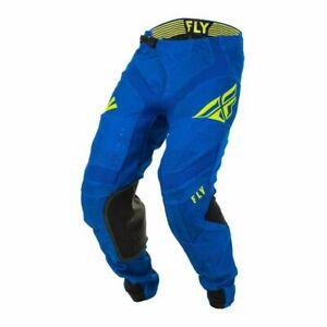 Motocross MX Trousers > Fly 2020 Lite Hydrogen Du Pont - Blue/Black/Hi-Vis