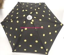 Black Umbrella Yellow Polka Dots 18 in Doll Clothes Accessory Fits American Girl