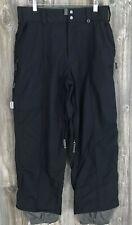 Burton Ronin Snowboard*Ski*Snow Pants Men's Xs Black Nylon Mesh Lined 31/28