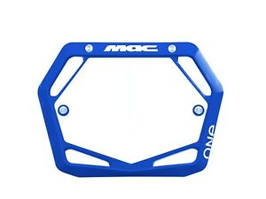 Mac One BMX Number Plate Mini/Cruiser Blue