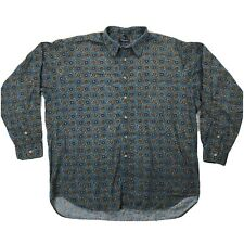 Vtg Christian Dior Monsieur Button Front Shirt Mens Sz XL Long Sleeve