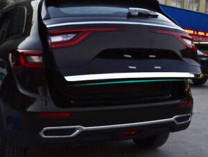 For Renault Koleos 2017 2018 2019 Steel Rear Trunk Door Tailgate Cover Trim 1pcs