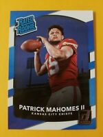 2017 Panini Donruss Patrick Mahomes II Rated Rookie RC Card 🔥🔥🔥 Investment $$