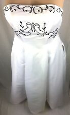 Bridal Wedding Dress- Ancient A Line Gown with Accent Embroidery  Size 14