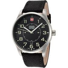 Wenger Men's Watch Terragraph Swiss Quartz Nylon Strap Black Dial 01.9041.222S