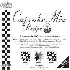 Cupcake Mix Recipe #4 foundation paper by Miss Rosie's Quilt Co for Moda