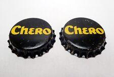 Set of (2) Unused CHERO Cork Lined Soda Bottle Caps