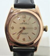 Solid 14k Rose Gold ROLEX Bubble Back Automatic Watch 1940s Ref 3131* EXLNT