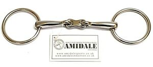 LOOSE RING HORSE BIT STAINLESS STEEL FRENCH FLAT LINK AMIDALE SPORTS BNWT