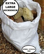 50 Woven Polypropylene Large Sacks Heavy Duty Size 60x 90cm, Strong Woven, Bags