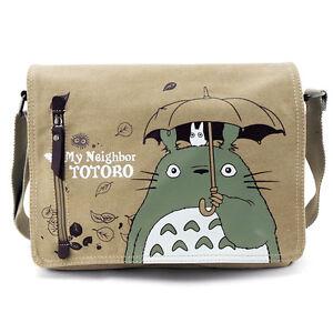 My Neighbor TOTORO Canvas Shoulder Messenger Backpack School Bag Kid Boys Gift