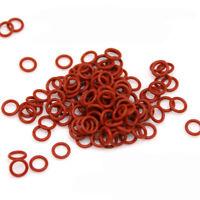OD 5-40mm Wire Dia 1.5mm Rot Silica Gummi O-Ring Set Dichtungs Unterlegscheiben