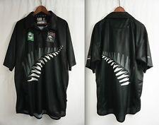 NEW ZEALAND BLACKCAPS CRiCKET JERSEY - LARGE Wstar black/caps/shirt Lloyds Bank