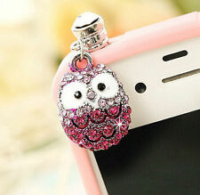 Anti Dust Plug For Samsung S8 S7 S6 Edge S5 S4 C9 A9 A8 Note 3 4 5 Pink Owl