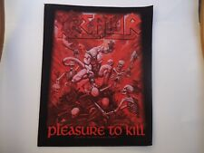 KREATOR PLEASURE TO KILL PRINTED BACK PATCH