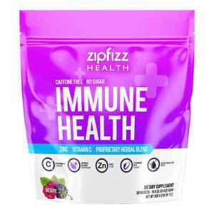 Zipfizz Immune Health Berry Flavor, 30 Packets