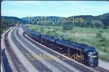 Original slide- CR E8A #4021 & Passenger Special At Gang Mills, NY. 8/89