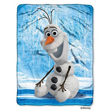 """Frozen """"Chills and Thrills"""" Olaf Super Plush Throw by Disney 46"""" x 60"""""""