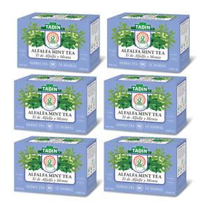 Tadin Alfalfa with Mint Herbal Tea. High in Vitamins. 24 Bag. 0.84 oz. Pack of 6