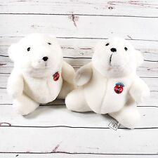 "Lot of 2 Coca Cola 7"" White Coke Polar Bears 1993 Plush"