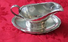 VINTAGE STERLING REED & BARTON SAUCE- GRAVY BOAT w UNDERPLATE  CREAMER X-515