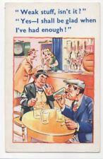 Weak Stuff Beer Drinking Vintage Comic Postcard 801b