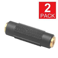 2-Pack  3.5mm Stereo Audio Gold Plated Female to Female Jack Coupler Adapter