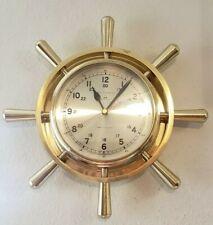 Vintage Bell Clock Co Ship's Bell Strike - Brass Clock Ships Clock Superb -Works