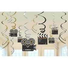 Lights! Camera! Action! Value Pack Foil Swirl Hanging Decorations