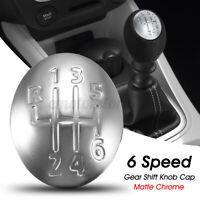 Capuchon 6 Levier Vitesse Pommeau Mat Chrome pour Renault Clio Megane Scenic  (