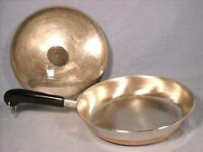 "VTG REVERE WARE 1801 COPPER CLAD 9"" 91a FRY PAN / SKILLET W/ LID  MADE IN USA"