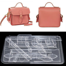 Leather Craft Acrylic Shoulder Crossbody Bag Pattern Stencil Template DIY