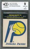Indiana Pacers Card 1977-78 Fleer Team Stickers #10 BGS BCCG 9