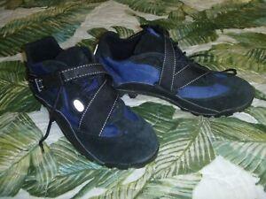 MENS Vintage NIKE ACG POOH-BAH 1997 BLUE BLACK Suede Cycling Shoes Size 10.5