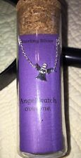 "Sterling Silver Angel Necklace 18 inches ""Angel Watch Over Me"""