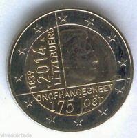 Luxemburgo 2 Euros 1ª 2014 @ 175 Aniversario @ Emision Nº 15 @