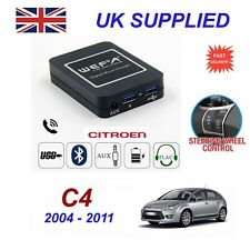 For Citroen C4 Music Stream Bluetooth Telephone Charger SD AUX CD Module RD4