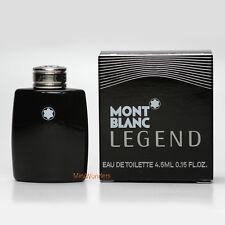 Mont Blanc LEGEND Eau de Toilette 0.15 Oz 4.5 ml Mini Perfume Miniature New