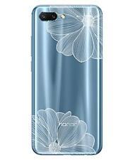 Huawei Honor 10 Coque Souple et Résistante avec motif (Fleur Blanche)