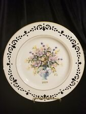 1999 Lenox Colonial Bouquet Connecticut the Fifth Colony Plate