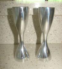 Pair Nambe Flare 5.5 inch Candlesticks 1994 Designer Karim Rashid