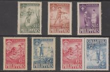 Philippine Stamps 1959 10th World Boy Scouts Jamboree 7v with Tete-beche pair M