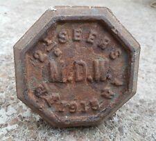 Vintage 2.5 Seers M. D.W Fer Mercantile de Mesure Poids