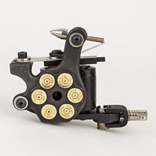 NEW Bullet Black Tattoo Machine Pro Gun Custom Dual 10-Wrap Coils Liner & Shader